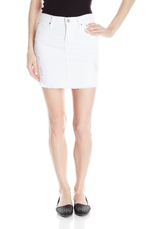James Jeans Women's Daisy Scalloped Hem Cut-Off Skirt