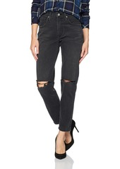 James Jeans Women's Donna High-Rise Straight Leg Ankle Jean in