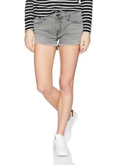 James Jeans Women's Hi-Lo Shorts Mid-Rise Stepped Hem Jean