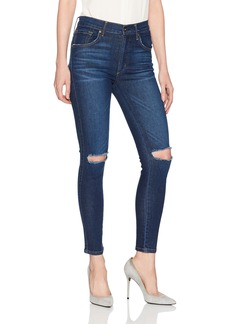 James Jeans Women's High Rise Skinny Ankle Jean in Maverick Blue