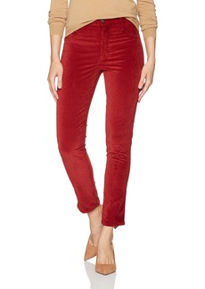 James Jeans Women's High Rise Skinny Ankle Velvet Pant Clay red