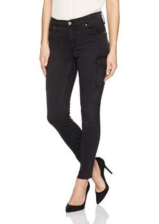 James Jeans Women's J Twiggy Ankle Cargo Skinny Jean with Raw Hem