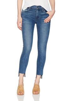 James Jeans Women's J Twiggy Ankle Skinny Jean with Hi Lo Hem Rebel
