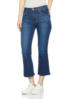 James Jeans Women's Kiki Frayed Hem Ankle Flare