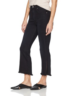 James Jeans Women's Kiki High Rise Frayed Hem Ankle Flare