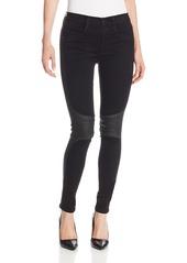 James Jeans Women's McEvoy Wrapped-Knee Twiggy Tux Jean