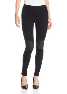 James Jeans Women's McEvoy Wrapped-Knee Twiggy Tux Jean