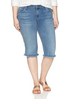 James Jeans Women's Plus Size Bermuda Short Jean in  W