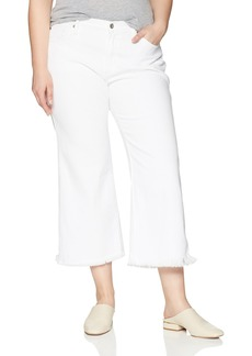 James Jeans Women's Plus Size Carlotta Wide Leg Crop Jean in  W