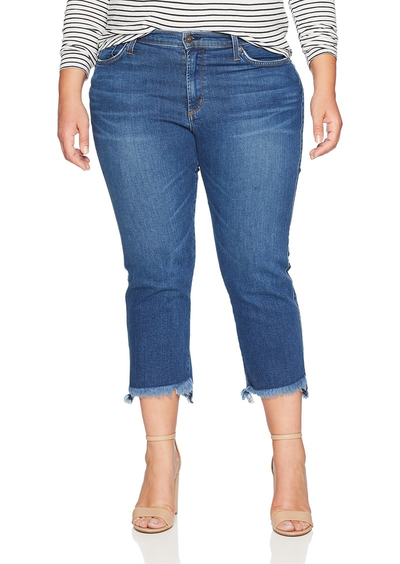 James Jeans Women's Plus Size Hi-Lo Straight Leg Stepped Hem Jean in  W