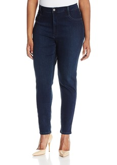 James Jeans Womens High Rise Skinny Ankle Velvet Pant in Clay