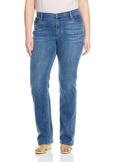 James Jeans Women's Plus-Size Hunter Curvy Straight Leg Jean In