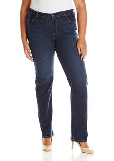 James Jeans Women's Plus Size Hunter Curvy Straight Leg Jean