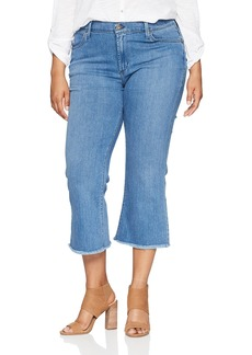 James Jeans Women's Plus Size Kiki Crop Flare Jean