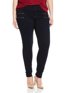 James Jeans Women's Plus Size Leggy Curvy Crux Double Front Zip Jean in
