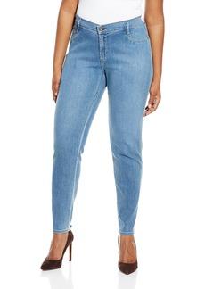 James Jeans Women's Plus Size Leggy Curvy Faux Front Pocket Legging Jean  12W
