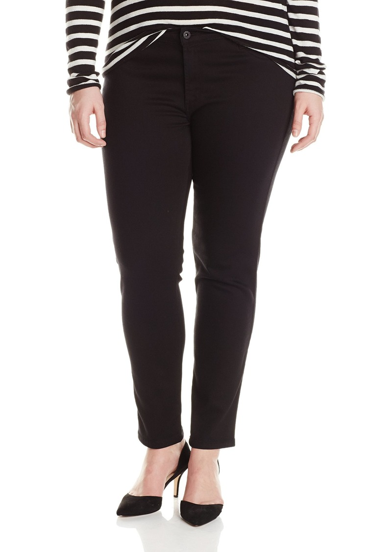 James Jeans Women's Plus-Size Leggy Z Faux Front Pocket Legging Jean