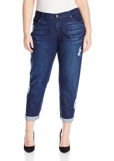 James Jeans Women's Plus-Size Neo Beau Classic Boyfriend Jean