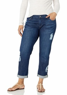 James Jeans Women's Plus Size Neo Beau Classic Boyfriend Jean  W