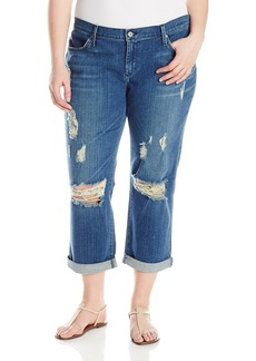 James Jeans Women's Plus-Size Neo Beau Z Classic Boyfriend Jean