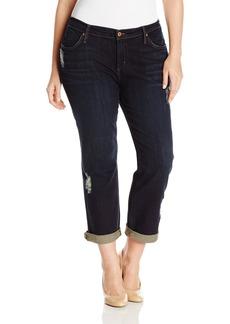 James Jeans Women's Plus-Size Neo Beau Z Classic Boyfriend Jean In
