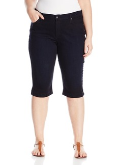 James Jeans Women's Plus-Size Sophia Knee Crop Slimming Short