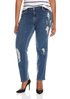 James Jeans Women's Plus Size Twiggy Curvy 5-Pocket Leg Jean Worn/In