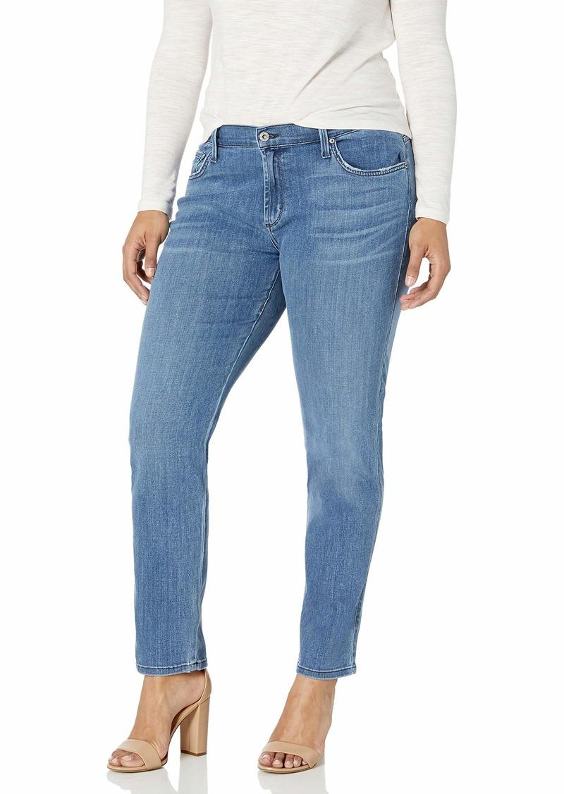 James Jeans Women's Plus-Size Twiggy Curvy Five-Pocket Cigarette Jean in  W