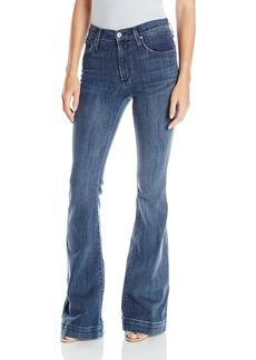 James Jeans Women's Shaybel Trouser Hem Jean in Nyc Blue