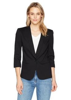James Jeans Women's Shrunken Tuxedo Slim Collar Jacket in  P