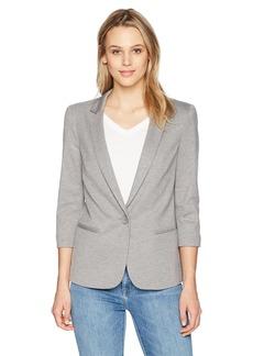 James Jeans Women's Shrunken Tuxedo Slim Collar Jacket in  S