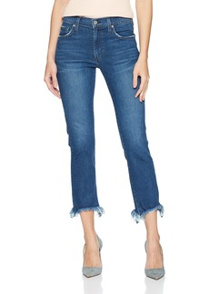 James Jeans Women's Sneaker Straight High Rise Ankle Length Jean