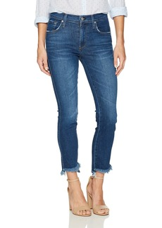 James Jeans Women's Straight Leg Jean with Hi Lo Hem in