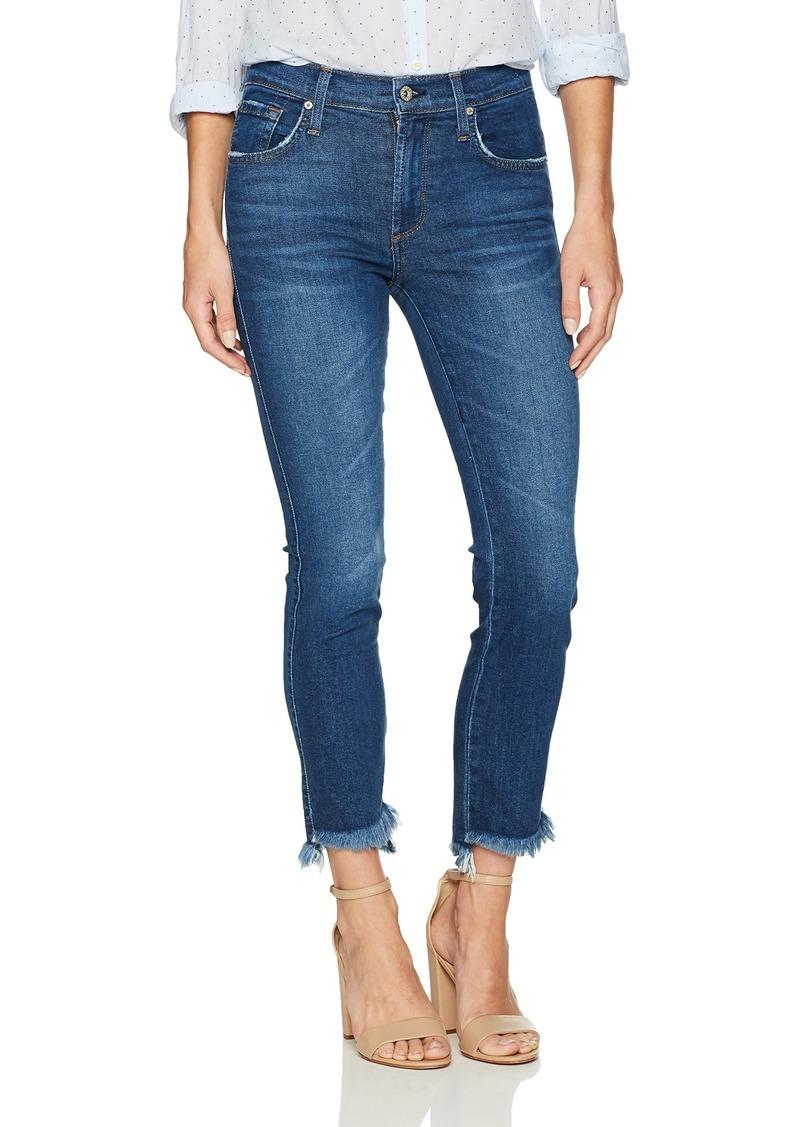 James Jeans Women's Straight Leg Jean with Hi Lo Hem in