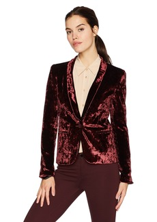 James Jeans Women's Tuxedo Jacket Velveteen Blazer  M