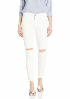 James Jeans Women's Twiggy Ankle Length Skinny Hem Frost White raw