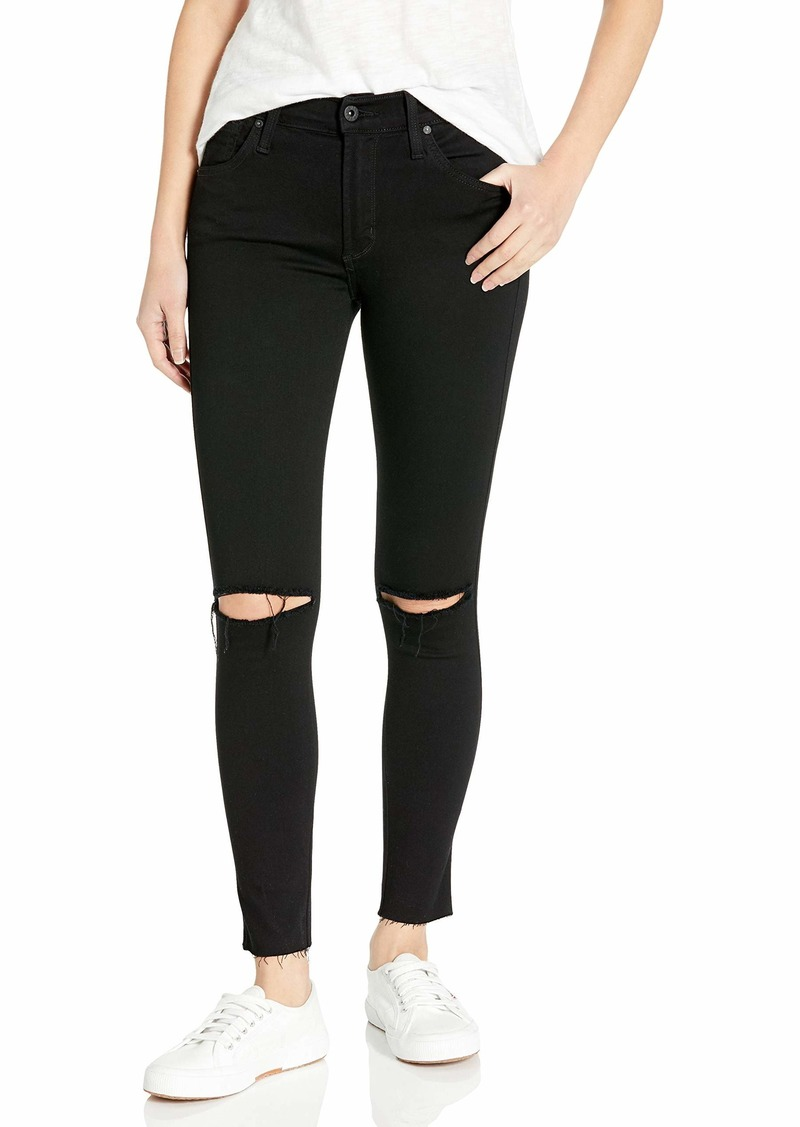 James Jeans Women's Twiggy Ankle Length Skinny Jean with Knee Slits Hem in
