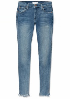 James Jeans Women's Twiggy Mid-Rise Legging Jean with Frayed Hem in