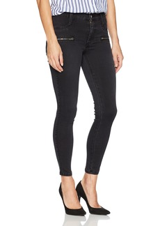 James Jeans Women's Twiggy Skinny Ankle Jean with Zipper in Blacked Out
