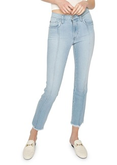 James Jeans Piper Cropped Skinny Jeans w/ Frayed Hem