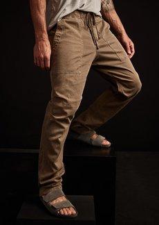 James Perse Army Cotton Slub Utility Pant - Old Whiskey Pigment