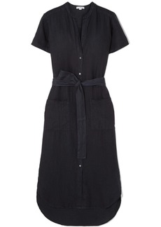 James Perse Belted Linen Midi Dress