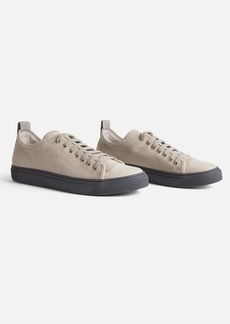 James Perse Men's Carbon Leather Sneaker - Taupe