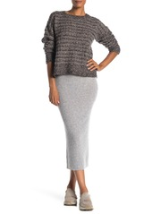 James Perse Cashmere Ribbed Skirt
