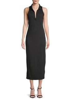 James Perse Collared Cotton Midi Dress