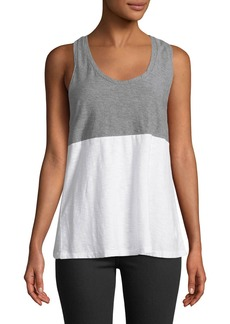 James Perse Colorblock Racerback Tank