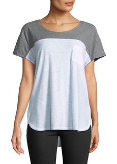 James Perse Colorblocked Slub Tee