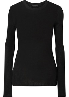 James Perse Cotton And Cashmere-blend Sweater