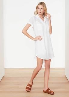 James Perse Cotton Voile Shirt Dress - White