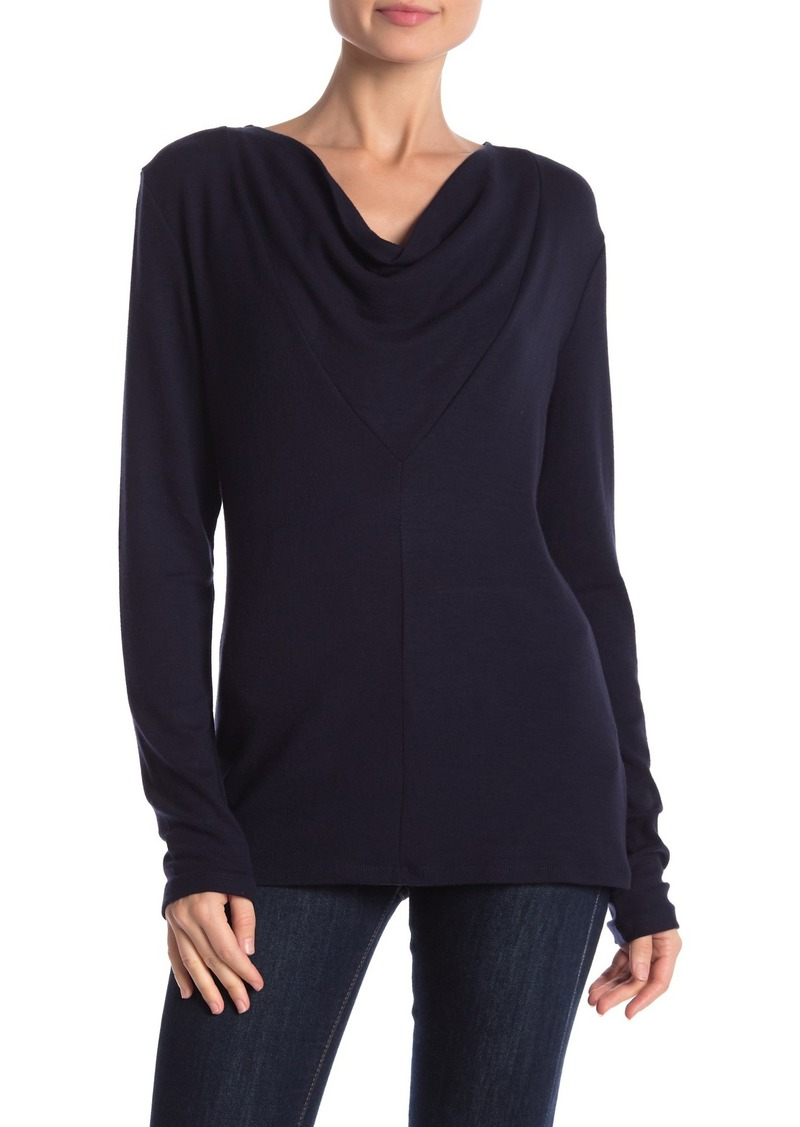 James Perse Cowl Neck Long Sleeve Shirt